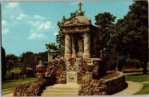 Shrine of Sacred Heart Holy Ghost Catholic Church Dickeyville WI Postcard G13