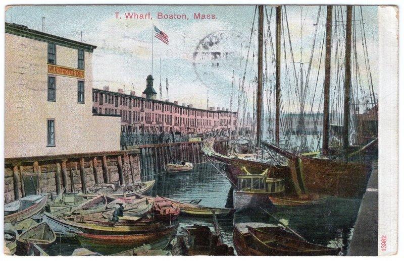 Boston, Mass, T Wharf