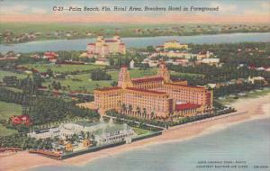 Florida Palm Beach Hotel Area Breakers Hotel In Foregound With Pool Curteich