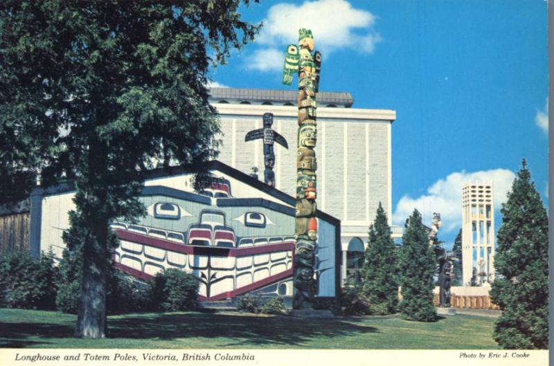 Long House and Totem Poles - Victoria BC, British Columbia, Canada