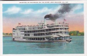 S S President Enjoying An Excursion On The Mississippi River New Orleans Loui...