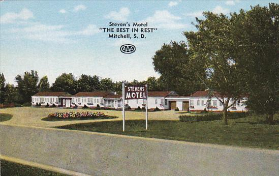 MITCHELL, South Dakota, 1940-1960's; Steven's Motel, Highway 37
