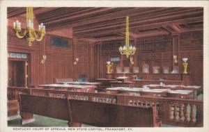 Kentucky Frankfort Interior View Kentucky Court Of Appeals In State Capitol B...