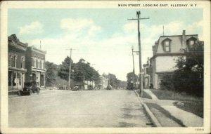Allegany NY Main St. East c1920 Postcard
