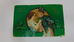 Antique 1912 Erin Go Bragh Postcard St. Patrick's day