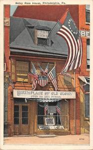 Pa. Philadelphia, Betsy Ross House, Birthplace of Old Glory, American Flags