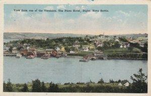 DIGBY, Nova Scotia, Canada, 1925; View from Veranda of The Pines Hotel