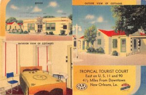 New Orleans Louisiana Tropical Tourist Court Vintage Postcard AA39810