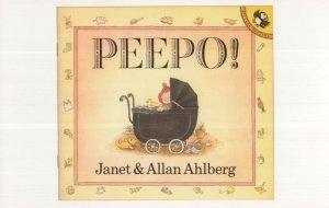 Peepo Janet & Allan Ahlberg 1983 Puffin Book Postcard