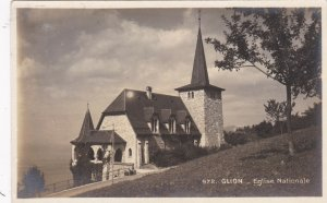 Switzerland Glion Egilse Nationale National Church Real Photo sk4018