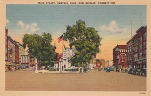 Main Street and Central Park - New Britain CT, Connecticut - Linen