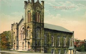 Plainfield New Jersey~Ivy Covered First Baptist Church~1921 Postcard