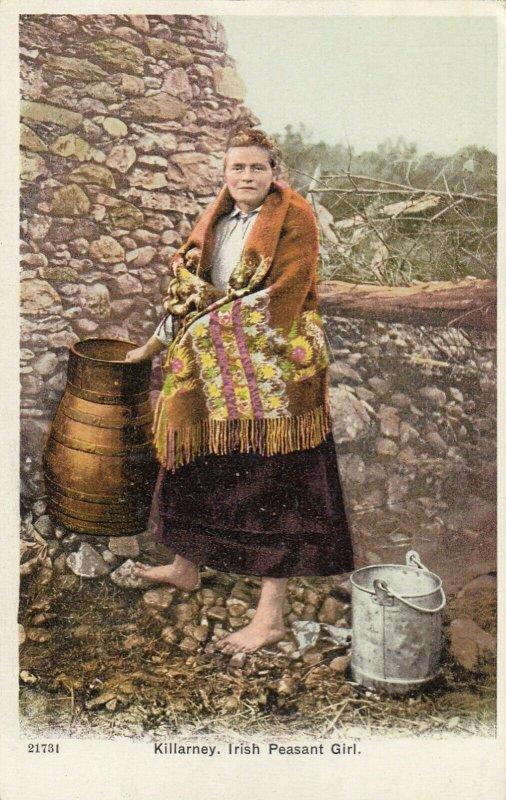 KILLARNEY , Ireland , 1900-10s ; Irish Peasant Girl
