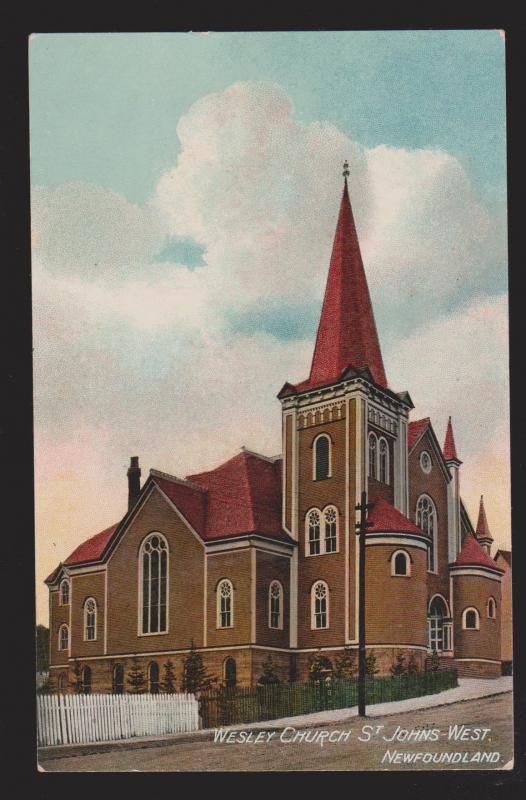 NEWFOUNDLAND - Wesley Church St John's - 1910s - Garland No 506