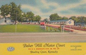 Kentucky Bowling Green Baker Hill Motor Court 1951 Curteich sk2159