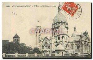 Old Postcard Paris Montmartre Sacre Coeur church