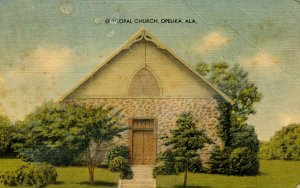 AL - Opelika. Episcopal Church    (crease)