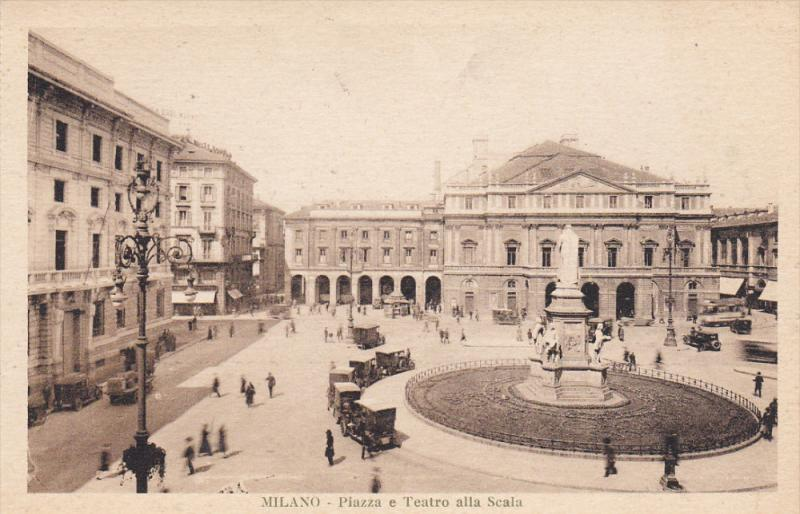 Piazza e Teatro Alla Scala, MILANO, Lombardia, Italy, 00-10's