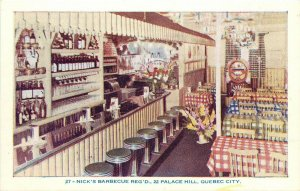 #27. Nick's Barbecue. 22 Palace Hill, Quebec City, Canada Postcard