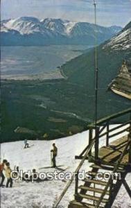 Mt Alyeska, AK USA Ski, Skiing Postcard Post Card Old Vintage Antique  Mt Aly...