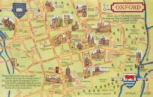 Oxford Map Broad Street, Trinity College, Christ Church College