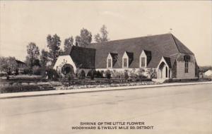 Michigan Detroit Shrine of The Little Flower Church 1934 Photo