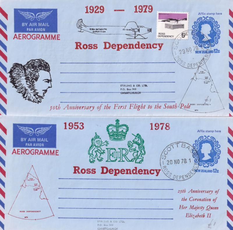Ross Dependency New Zealand South Pole Penguin 6x Aerogramme First Day Cover ...
