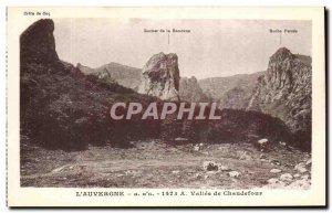 Old Postcard L & # 39Auvergne Vallee De Chaudefour
