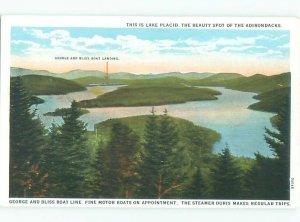 W-border LAKE SCENE Adirondacks - Lake Placid New York NY AE4699