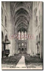 Old Postcard Senlis Interior of the Cathedral