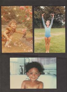 SPICE GIRLS - 5 Cards With The Girls As Children - Unused - Writing On Backs