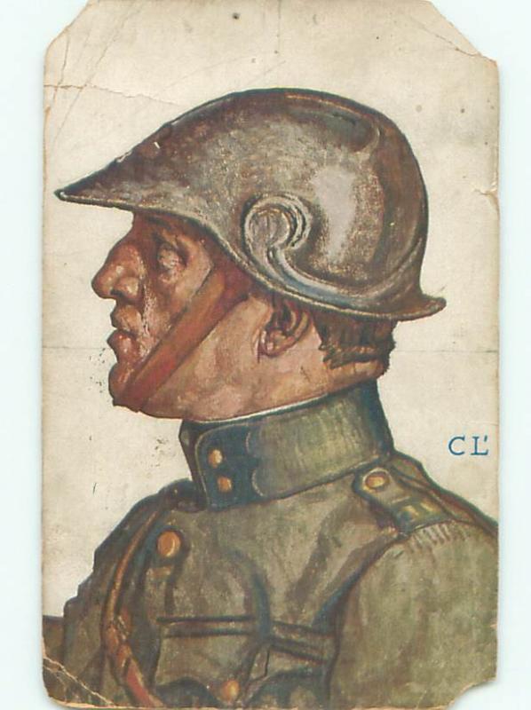 1917 Military WWI GERMAN ARMY SOLDIER AC6049 / HipPostcard