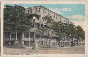 1923 OCEAN GROVE New Jersey NJ Postcard OCEAN VIEW HOTEL