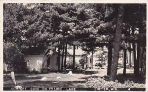 Wisconsin Chetek Prairie Lake Comfort Cove 1949 Real Photo RPPC