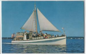 The Balmy Days Deep Sea Tourist Ship Boat Boothbay Harbor Maine Postcard