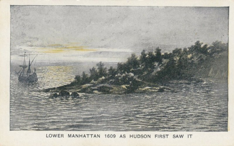 HUDSON-FULTON Celebration, NY,1900-10s; Lower Manhattan as Hudson first saw it