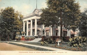 Lafayette IN~Four Big Columns on Commandant's House~Soldiers Home c1910 SHARP!