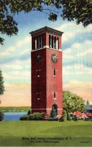 New York Chautauqua Miller Bell Tower On Lake Chautauqua 1951 Curteich