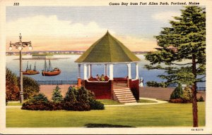 Maine Portland Casco Bay From Fort Allen Park Curteich