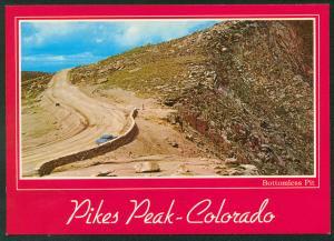 Pikes Peak Highway Colorado Bottomless Pit Road Postcard