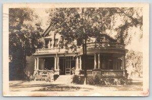 Marion Ohio~President Harding's Home~Circular Veranda~1945 RPPC