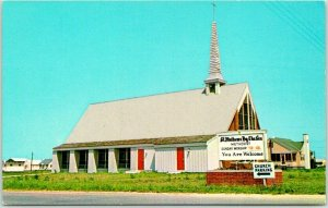 1960s FENWICK ISLAND Delaware Postcard St. Mathews By-the-Sea Methodist Church
