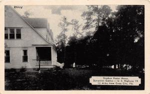 B89/ Cross City Florida Fl Postcard c40s Stephen Foster House Suwannee Gables
