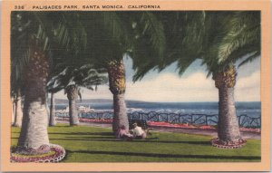 Santa Monica, Calif., Palisades Park on the Pacific Ocean
