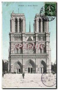 Paris - 4 - Notre Dame - Old Postcard