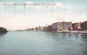 New York Troy Hudson River Day Scene Collar District 1912