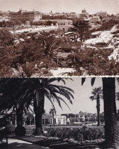 Park & Hotel Estoril Portugal Aerial 2x Real Photo Postcard s
