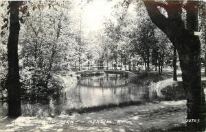 Merrill Wisconsin~Stange Park~Prairie River Creek Foot Bridge~1949 LL Cook RPPC
