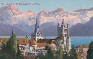 LAUSANNE, Switzerland, 1900-10s; La Cathedrale et les Alpes
