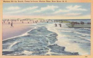 Marines Hit The Beach, Camp Le Jeune, Marine Base, New River, North Carolina,...